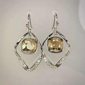 Jewelry - 925 Sterling Silver Champagne Earrings